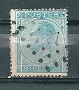 18 Gestempeld PT 21 AUDENAERDE - COBA 2,00 - 1865-1866 Profile Left