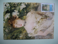 Carte Maximum  Jeune Femme En Toilette De Bal   Morisot Berthe - Arts