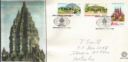 Borobudur Temple. Unesco World Heritage. JAVA,  FDC Letter Indonesia Addressed To Australia - Buddhism