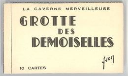 Carnet 10 Cpa Grotte Des Demoiselles - France