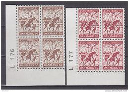 Dänemark, 508-509, 4erBlock, Postfrisch **,  Flüchtlingshilfe, 1971