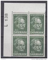 Dänemark, 482, 4erBlock, Postfrisch **, 100. Geburtstag Von Martin Andersen Nexø, 1969