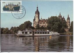 DDR # 3032 MAXIMUM-Karte Schwerin Tagesstempel 11.8.88. Wunderschöne Privat Angefertigte Max-Karte Auf Der Basis Einer F