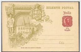 India Portoghese/Portuguese India: Intero, Stationery, Entier, Palazzo Reale, The Royal Palace, Palais Royal - Architecture