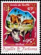 WALLIS AND FUTUNA 2009 Chinese Lunar New Year Of The Ox Bulls Bull Animals Fauna MNH - Nuevos