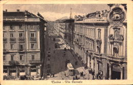 Italia Cartolina Torino Via Cernaia Tram  Viaggiata 1949 Democratica 6 Lire Targhetta  Polizza       SEE SCAN - Non Classificati
