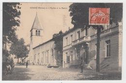69 - COURS / L'EGLISE ET LA MAIRIE - Cours-la-Ville