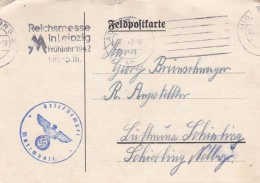 Feldpost WW2: From A Marschbataillon P/m Augsburg 27.1.1942 - Plain Postcard  (G76-79) - Militares