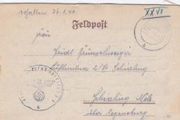 Feldpost WW2: Ersatz Abteilung 5 In Zindorf P/m Zindorf  22.1.1944 - Letter Inside   (G76-79) - Militaria