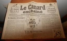 Le Canard Enchaîné. 3 Janvier 1934. Affaire Stavisky. - Historical Documents