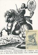 D28882 CARTE MAXIMUM CARD 1969 CZECHOSLOVAKIA - RIDER ON HORSEBACK BY VACLAV HOLLAR CP ORIGINAL