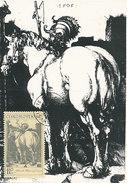 D28883 CARTE MAXIMUM CARD 1969 CZECHOSLOVAKIA - HORSE BY ALBRECHT DÜRER CP ORIGINAL