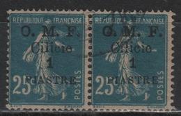 OMF Cilicie Paire Du Timbre N° 92 Oblitérés - Cilicia (1919-1921)