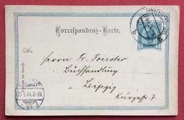 CARTOLINA POSTALE AUSTRIA  5 K  DA INNSBRUCK A LEIPZIG LIPSIA IN DARA 25/5/1904 - Repubblica Ceca