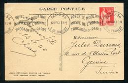 Paix N° 283:CPE 5 Mots Pr SUISSE- OM PARIS 34 R De Chaillotsdu 12/4/40 - 1921-1960: Période Moderne