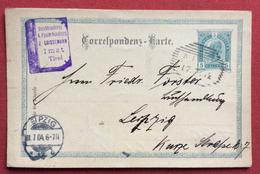 CARTOLINA POSTALE AUSTRIA  5 K  DA IMST TIROL  A LEIPZIG LIPSIA IN DATA  7/4/1906 - Repubblica Ceca