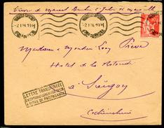 Paix N° 283:  Lettre Avion 1° éch.de Marseille Pr INDOCHINE Du 2/1/1934 + Griffe PA - 1921-1960: Période Moderne