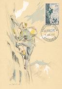 D28893 CARTE MAXIMUM CARD 1956 FRANCE - MOUNTAIN CLIMBING CP ORIGINAL