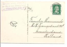 DeutschesReich. R3Stempel Gruss Vom Rhein An Bord Des Dampfers FRAUENLOB.Ak. Blick Auf Das Siebengebirge 1927 - Deutschland