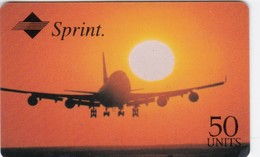 United States, Sprint Airline  2 Scans.  50 Units In Black, 2 Lines Bottom Right. Expiry.: 12/96 - Stati Uniti