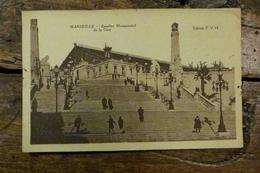 13, MARSEILLE, ESCALIER MONUMENTAL DE LA GARE - Bahnhof, Belle De Mai, Plombières