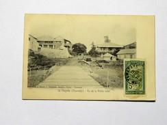CPA ILE MAYOTTE DZAOUDZI : Vu De La Petite Jetée , Timbre 1916 - Mayotte
