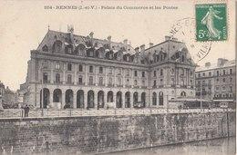 RENNES   ( 35 ) Palais Du Commerce Et Les Postes ( Port Gratuit ) - Rennes