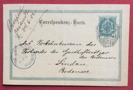 REPUBBLICA CECA  CARTOLINA POSTALE AUSTRIA  5 H CON ANNULLO A BARRE MARIENBAD MARIANSKÉ LAZNĚ PER LINDAU 23/6/1902 - Repubblica Ceca