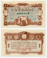 1914-1918 // C.D.C. // AVEYRON / RODEZ & MILLAU//  1 Fr / ANNULE - Chamber Of Commerce