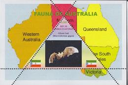 FAUNA OF AUSTRALIA - GHOST BAT    -  TRIANGULAR STAMP  1 Sheet LIMITED EDITION  CINDERELLA