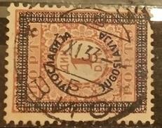 PORTO-NUMBERS-1 DIN-OVERPRINT-POSTMARK-VIS-CROATIA-YUGOSLAVIA-1933 - Postage Due