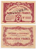 1914-1918 // C.D.C. // ORLEANS & LOIRET //  2 Frs / SPECIMEN - Chambre De Commerce