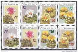 2006 Rép TCHEQUE 439-42** Flore, Cactus, Tête-bêche - Tchéquie