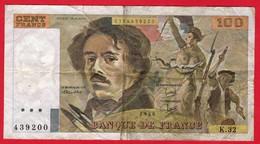 -- FRANCE - BILLET DE 100 FRANCS EUGENE DELACROIX -- - 1962-1997 ''Francs''