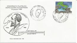 Paolo Veronese, Campi Bisenzio 24.6.1988, Annullo XVIa Giornata Filatelica Dopolavoro Autostrade Su Busta Ufficiale. - Arte