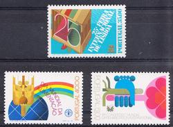 PORTUGAL 1984 .EVENTOS PROJECÇAO INTERNACIONAL .AFINSA. Nº 1652/54 NUEVO  SIN CHARNELA .SES461GRANDE - 1910-... República