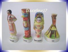 Rois Du Tipi... Lot De 4 Fèves .. Ref AFF : 56-1997 ...(pan 006) - History