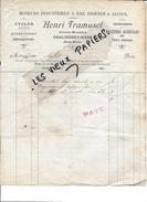 52 - Haute-marne - CHALINDREY - Facture TRAMUSET - Moteurs Industriels à Gaz, Essence Et Alcool - 1909 - REF 58B - France