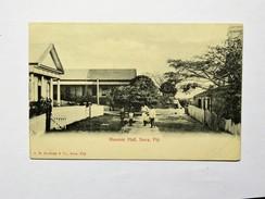 CPA FIDJI : Loge Maçonnique, Animé, Masonic Hall, SUVA, FIJI - Fidji