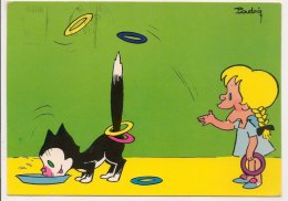 L20F021 - Fillette Jouant Aux Anneaux Avec La Queue De Son Chat - Padry - Editions Borde N°835 - Other Illustrators