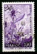 French Morocco, Village In The Anti-Atlas Range, 100f., 1955, VFU - Morocco (1891-1956)