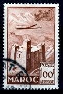 French Morocco, Kasbah In The Anti-Atlas, 100f., 1952, VFU - Morocco (1891-1956)