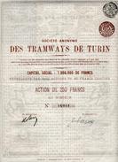Italie: TRAMWAYS De TURIN - Railway & Tramway