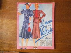 LA MODE CHEZ VALROSE 44 CHAMPS ELYSEES CATALOGUE PRINTEMPS-ETE 1939  16 PAGES - Advertising