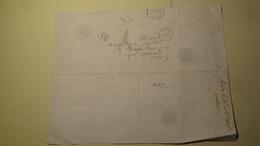 Petit Cachet De Rodez Sur Lettre Taxee 1d Pour Brusque Aveyron 1845 - Marcophilie (Lettres)