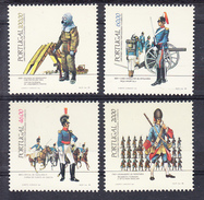 PORTUGAL 1985. UNIFORMES MILITARES : EXERCITO   .AFINSA. Nº 1683/1686 NUEVO  SIN CHARNELA .SES461GRANDE - 1910-... República