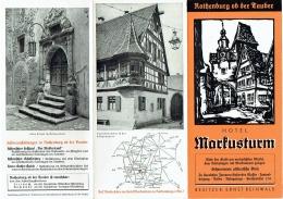 Dépliant Publicité Avec Photos. Rothenburg. Hotel Marfustrurm. - Toeristische Brochures