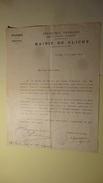 Mairie De Clichy Seine 13 Aout 1914 Licenciement Des Gardes Civiques Signe Commissaire De Police - 1914-18