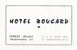 Carte Commerciale Hôtel BOUCARD / Vercel 25 Doubs - Autres