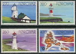 Faroe Isl. 1985. Michel #121/24 MNH/Luxe. Lighthouses. (Ts43) - Islas Faeroes